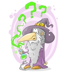 Old wizard vector