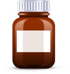 Pills bottle vector image vector image