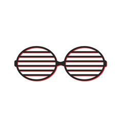 Shutter sunglasses simple icon vector