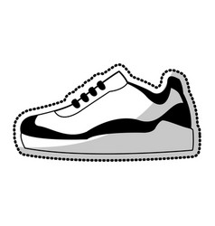 sneakers shoe icon image vector image vector image