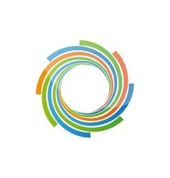 Spiral design logo vector