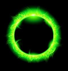Stars korona Green 01 vector image vector image