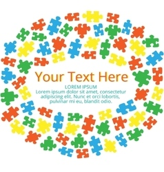Text box with puzzles 03 vector