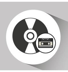 Vinyl disk retro cassette vector