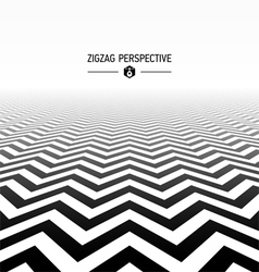 Zigzag pattern perspective vector image vector image