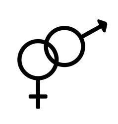 Gender sign 1308 vector
