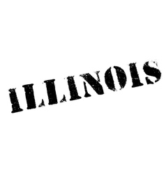 Illinois stamp rubber grunge vector