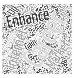 Enhance your career through internet exposure word vector