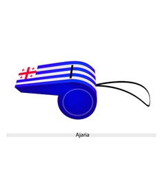 White and blue stripe on ajaria whistle vector
