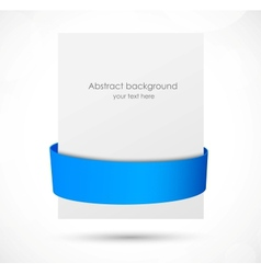 Abstract banner with blue ribbon vector