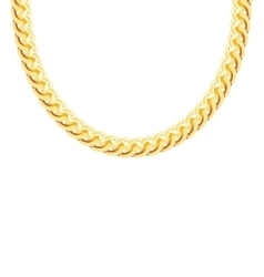 Gold chain jewelry vector