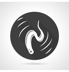 Eel black round icon vector