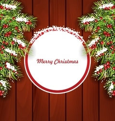 Holiday card on wooden background vector
