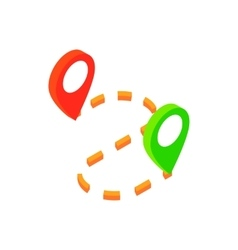 Gps navigator isometric 3d icon vector