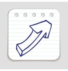 Doodle Arrow icon vector image