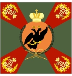 Color flag simbirsk infantry regiment vector