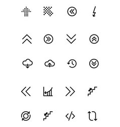 Arrows Icons 18 vector image