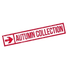 Autumn collection stamp vector
