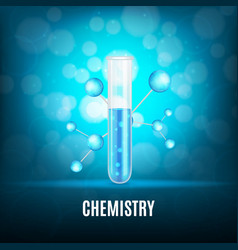 Background with test-tube vector