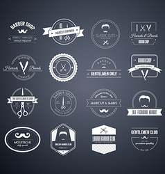 Barber Logos vector image vector image