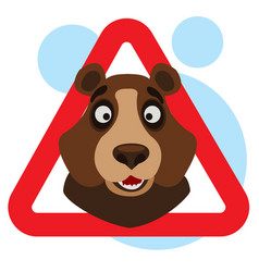 Bear caution wild animals sign wildlife habitat vector