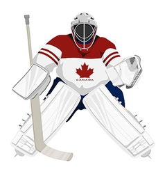 canada hockey goalie vector image