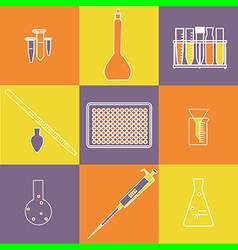 chemistry outline icon vector image vector image