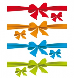 colorful bows vector image vector image