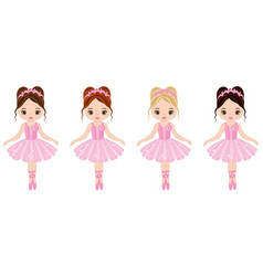 cute little ballerinas vector image vector image