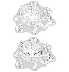 Easy turtle maze vector