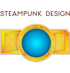 element in steampunk style vector image