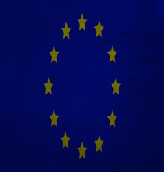 EU flag dirty vector image
