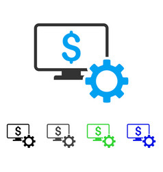 Financial monitoring options flat icon vector