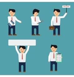 Flat businessmen set vector image vector image
