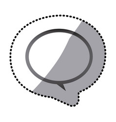 grayscale round chat bubble icon vector image