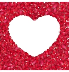 Heart of red rose petals EPS 10 vector image vector image
