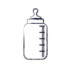 Isolated baby bottle design vector