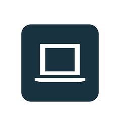 laptop icon Rounded squares button vector image vector image