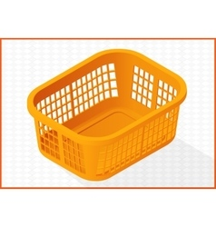 laundry basket 3d vector image vector image