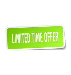 Limited time offer square sticker on white vector