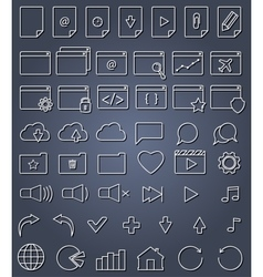 line icon set vector image vector image