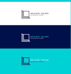 minimal square logo design concept vector image vector image