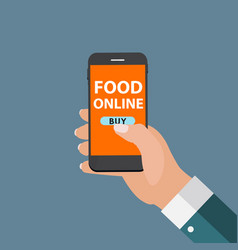 mobile apps concept online food delivery shopping vector image vector image
