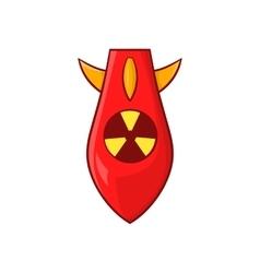 Nuclear warhead icon cartoon style vector
