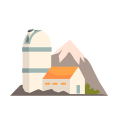 observatory station cartoon vector image vector image