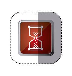 Red emblem hourglass cursor vector