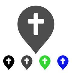 religion cross marker flat icon vector image vector image