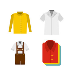 Shirt icon set flat style vector