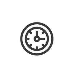 Simple outline wall clock icon symbol vector
