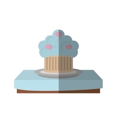 Tasty cupckae on table beautiful icon design vector